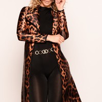 Estelle Leopard Trench Coat - Leopard