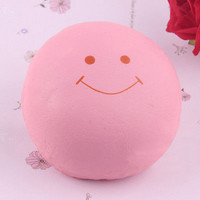 9.5CM Jumbo Smile Marshmallow Squishy Bread Keychain Bag Phone Charm Strap