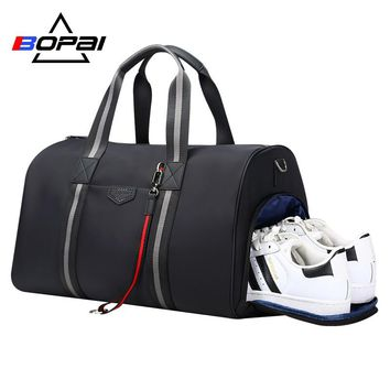 New Designed Duffle Travel Bags with Shoes Compartment Holiday Weekend Travel Bags Waterproof Shoulder Bag bolsa de viagem