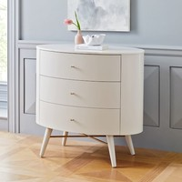 Penelope 3-Drawer Dresser - Oyster W/ Marble Top