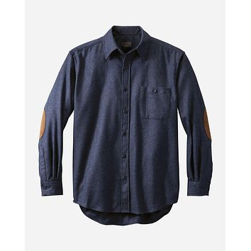 Pendleton - Men's Fitted Elbow-Patch Trail Navy Mix Shirt
