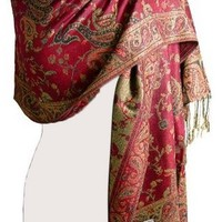 Peach Couture® Reversible Paisley Pashmina Shawl Wrap in Elegant Colors