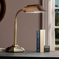 OttLite Alton Task Table Lamp - Honey Brass