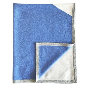Cashmere color block blanket for babies & children in Blue