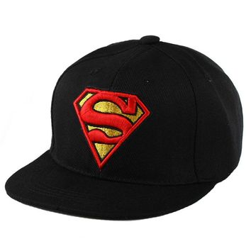 Trendy Winter Jacket Baseball Cap Kids High Quality Boys Girls version Snapback Hats Children Batman Cartoon HipHop Cap For Captain America Superman AT_92_12