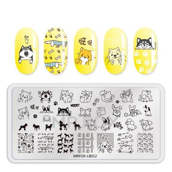 Nail Stamping Plates 12.5*6.5cm FlowerCute Animal Dog Cute Unicorn Feather Patterns For Manicure Nail Polish Stencils For Nails