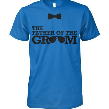 Mens The Father Of The Groom Funny Graphic T-shirt Men, Men's Tops