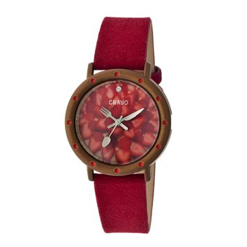 Crayo Cr2108 Slice Of Time Ladies Watch
