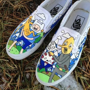 vans adventure time hand painted shoes