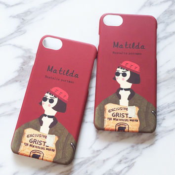 Classic Moive The Professional Killer Case For iphone 7 Case Cartoon Mathilda Back Cover Hard PC Phone Cases For iphone7 i7 Capa