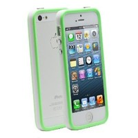 Fosmon BUFFER Series TPU Bumper Case for Apple iPhone 5 / 5S (Green & White)