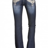 Leather Falcon Wing Boot Cut