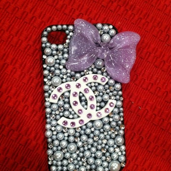 Iphone 4 case, decoden iphone case, bling iphone case