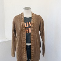 BELINA BRAIDED CARDIGAN- RUST
