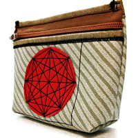 On SALE! Mandala Vegan Purse, MakeUp Bag, Organizer Purse, Coin Purse, Card Holder UNUSUAL - Handmade Ready to Ship