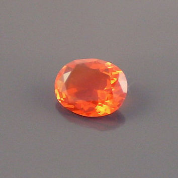 Fire Opal: 1.25ct Red Orange Oval Shape Gemstone, Loose Natural Hand Made Mexican Faceted Precious Gem, Right-Hand Ring Casting Supply O43