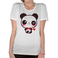 Kawaii panda tee shirts from Zazzle.com