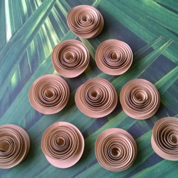tan brown kraft Roses Loose table decoration Winter wedding Bridal Shower Decor Mini Flower Bouquet home decor Baby nursery party decoration