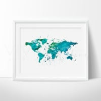 World Map, Green