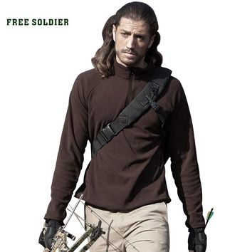 FREE SOLDIER Outdoor sports hiking camping tactical thermal jacket men's military coat fleece clothing