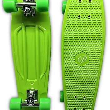 "28"" Retro Skateboard by DreadXBoards- Penny-style Nickel Board Green"