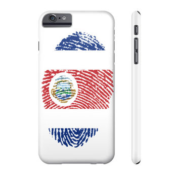 Costa Rican Fingerprint Flag Phone Case