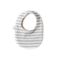 Baby Bib in Gray Stripes