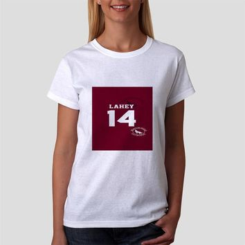 Classic Women Tshirt Teen Wolf Isaac Lahey Lacrosse Jersey