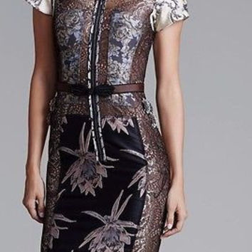 Anthropologie Embroidered Brocade Dress From Beguile by Byron Lars  2 P - NWT