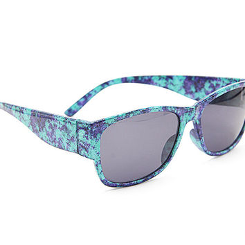 Natural Turquoise Marble Sunglasses Unisex Wayfarer Style Unique Glasses S006