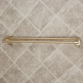 Golden hook towel bar space aluminum bathroom towel rack