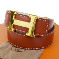 hermes belt, men hermes belt, women hermes belt, belt, belt hermes, belts for men, belts for women, Leather belt, men belt, mens belt, women belt,Auth HERMES Constance H Buckle Reversible Belt Leather Gold Brown #65 39BA989