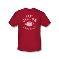 Mens Friday Night Lights East Dillon Football Distressed Logo Tee Shirt