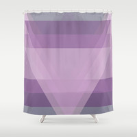 Purple Abstract Shower Curtain by C Designz