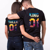 King Queen 01 Vacation Shirts, King Queen Summer Shirts, Sunset Shirts, Sea Shirts, Tropical King Queen Shirts, Summer Shirts, UNISEX