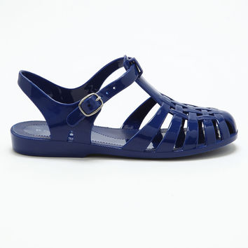 Navy Blue Jelly Sandals