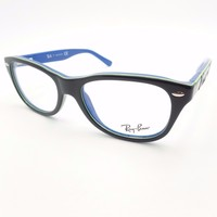 Ray Ban Kids 1544 3600 Dark Blue Green Eyeglass Frame New Authentic Children's