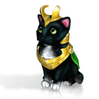 LoKitty The Sorcerer by EricHo on Shapeways