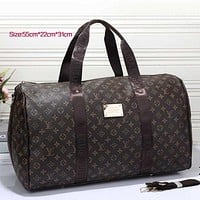 Perfect LV Women Leather Multicolor Luggage Travel Bags Tote Handbag