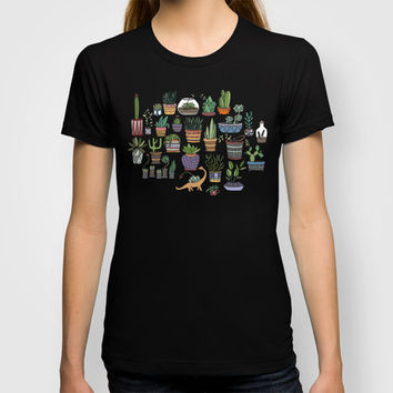 Succulent Party T-shirt by Alliedrawsthings | Society6
