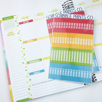 128 CUSTOM M/D/N Section Header Labels Die-Cut Stickers // (Perfect for Erin Condren Life Planners)