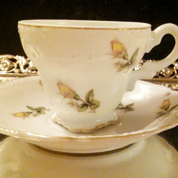 Grantcrest China Vintage Japanese Yellow Rose Tea Cup / Demitasse Grantcrest China
