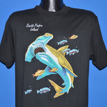 80s South Padre Island Hammerhead Shark t-shirt Large