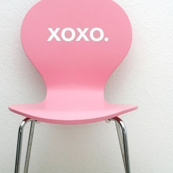 XOXO. Cute Vinyl Wall Decal Sticker Art