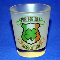 Fir Na Dli Men Of Law Frosted Shot Glass