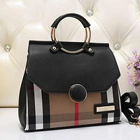 Burberry Women Fashion Leather Satchel Tote Shoulder Bag Crossbody