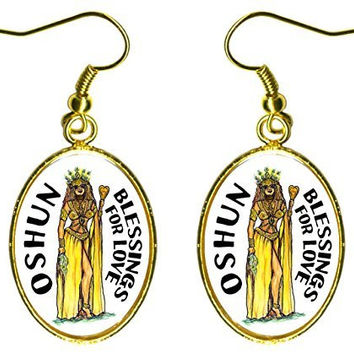 "Oshun Orisha for Blessings of Love 1"" Stainless Steel Earrings"