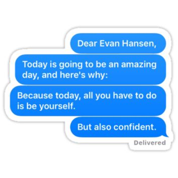 'Dear Evan Hansen Letter' Sticker by allisonpkk