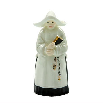 Vintage Royal Worcester The Abbess Nun Candle Snuffer Fine Bone China Figural Figurine 1959 Mark