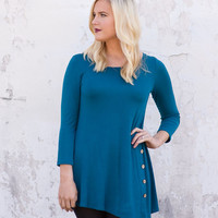 Far From Here Tunic Top - Teal